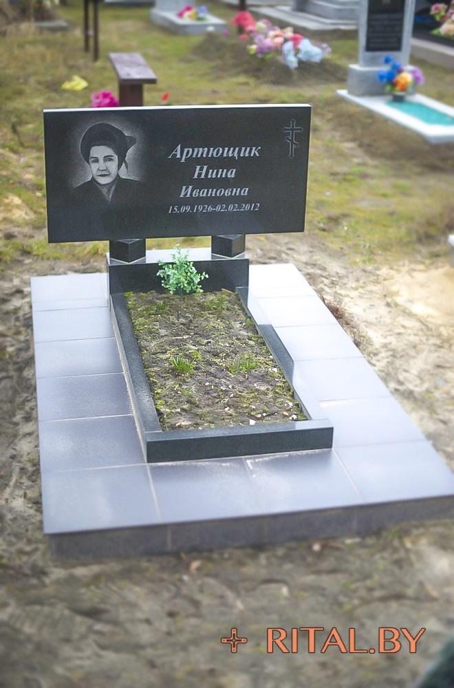 Памятник гранитный горизонтальный в Кобрине заказать Дешево Быстро Качественно