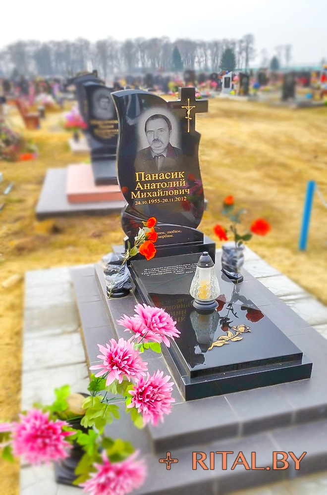 Памятник гранитный вертикальный в Кобрине Заказать дешево быстро качественно